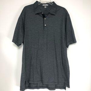 Peter Millar Black & White polo shirt. Size XL